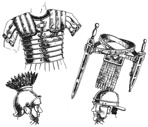 шлем легионера аттического