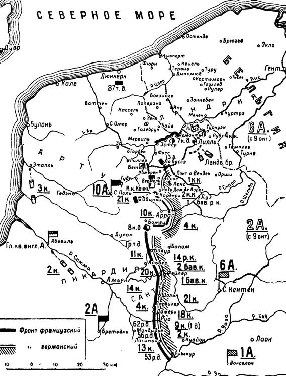Париж 1914 (темпы операций)