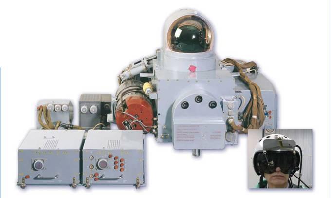 Оптико-электронная прицельная система ОЭПС-27(31Е), состоящая из оптико-лок