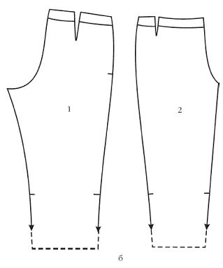 Брюки-капри без пояса с длинными манжетами по линии низа, завязанными банта