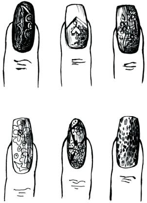 Рисунки и украшения на ногтях