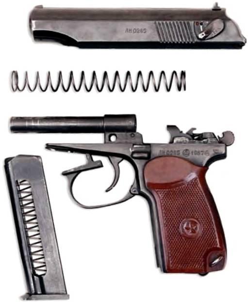 Разборка пистолета может быть