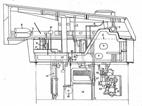 поворотного механизма 21