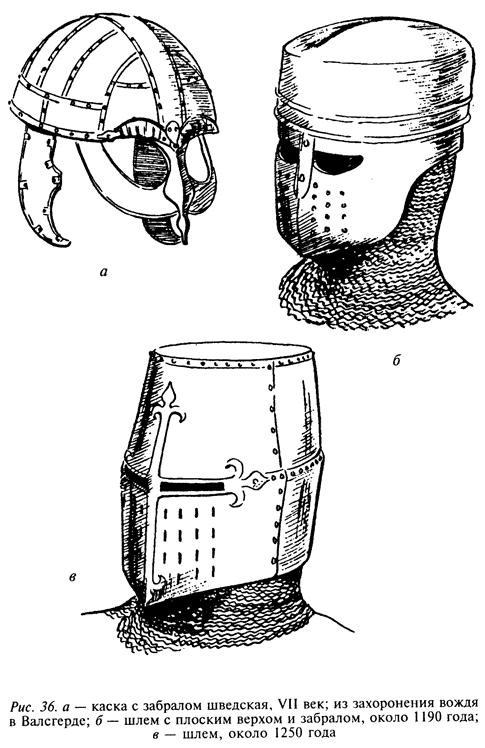 Средневековый шлем часто не