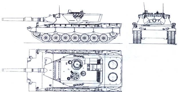 "Схема танка ""Леопард-2К"""