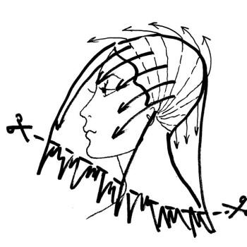 Далее разберите волосы на