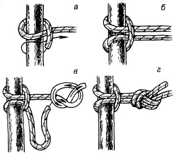 Привязочные узлы. для повышения надежности.