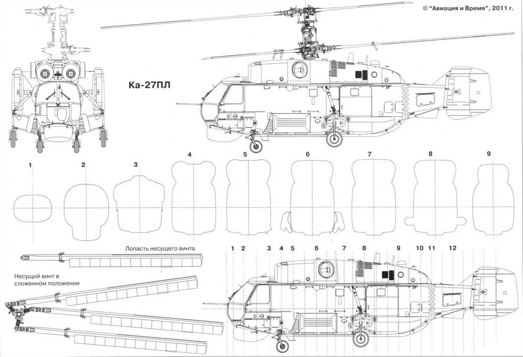Основные ЛТХ вертолетов Ка-27