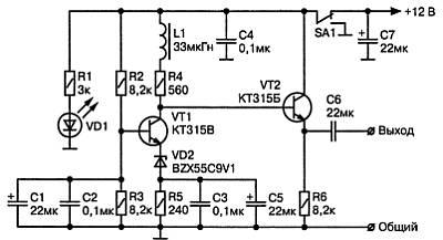 Генератор белого шума предлагаемая схема генератора помех очень мощный генератор схема мощный генератор шума.