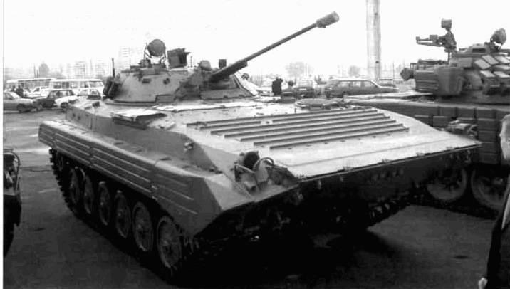 Модернизированная БМП-2, оснащенная круглосуточной СУО на основе прицельного...