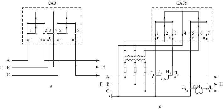2 показаны типовые схемы