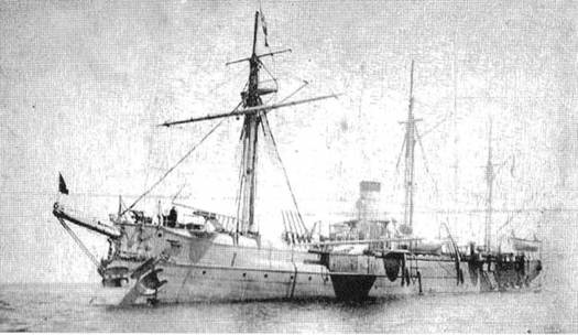 """Манджур "" в Чифу в 1895 г."