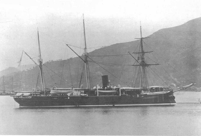 """Канонерская лодка """"Манджур""""."""