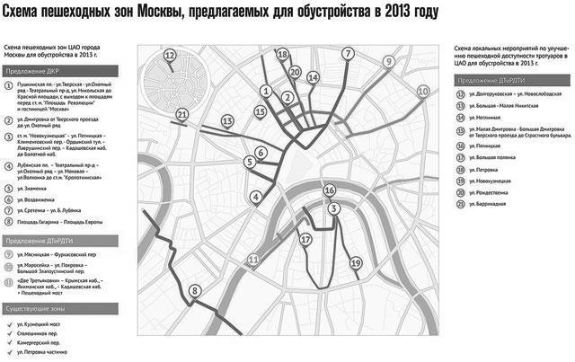 Некоторые улицы Москвы теперь