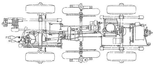 Схема общей компоновки БРДМ-2