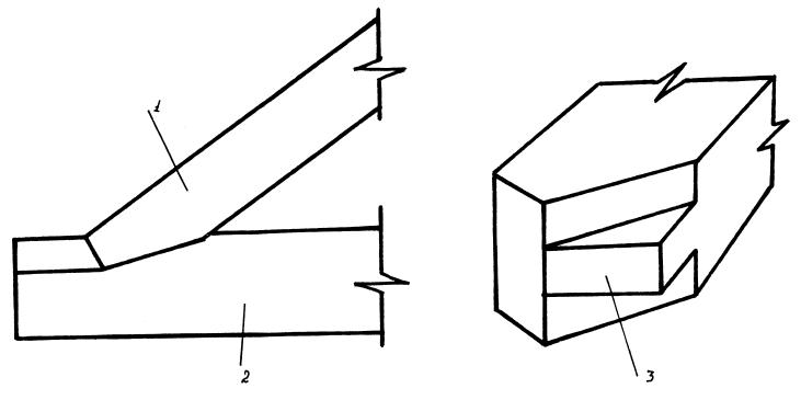 1 – стропильная нога, 2