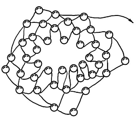 Схема изготовления цветка--// На отдельных кусочках проволоки выполните 3 листочка из зеленого бисера по схеме...