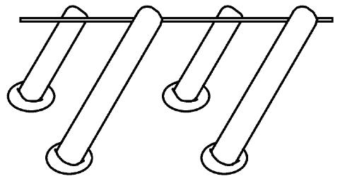 деревянного молотка по