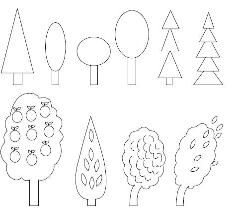 ствола дерева, кроны (рис.