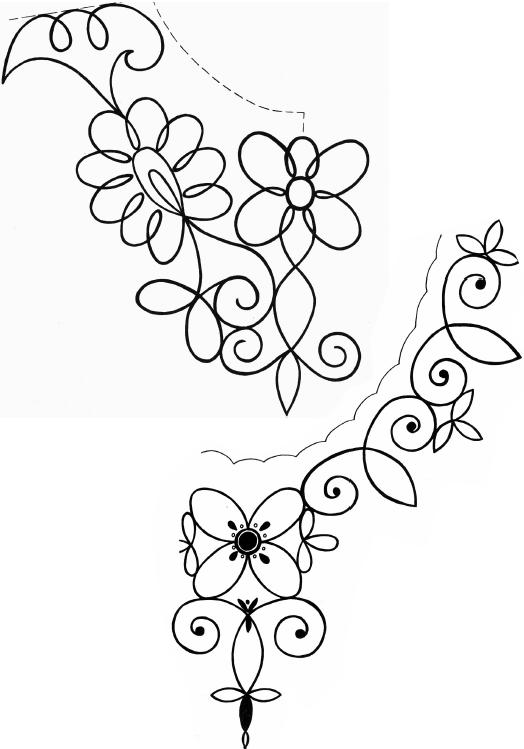 Рисунки для вышивки на одежде