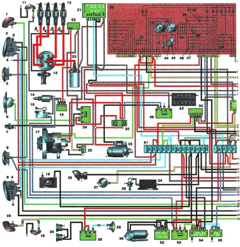 Электросхема газ - схема.