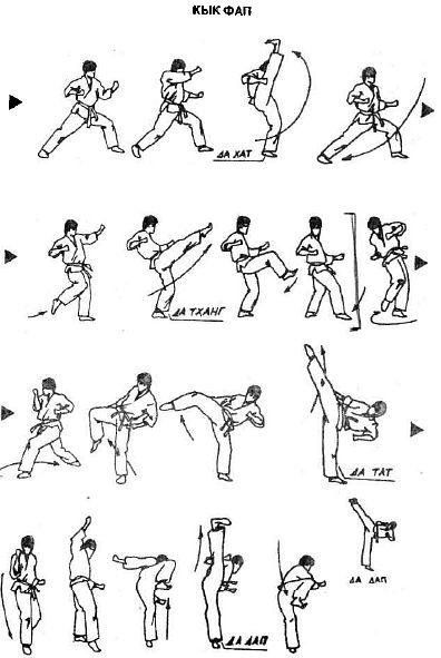«кык фап» — техника ударов