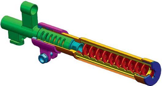 Схема устройства глушителя для