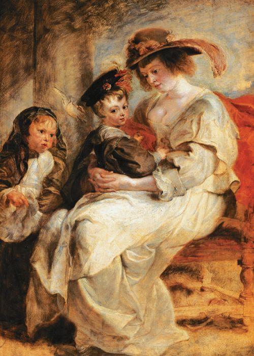 Портрет Елены Фоурмен с детьми