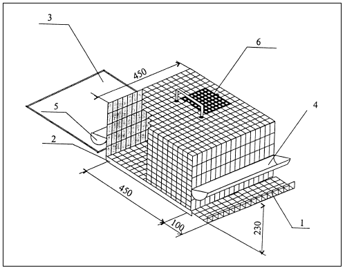 Схема клетки для кур-несушек 1