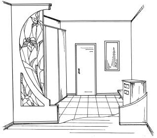 Новая прихожая гостиная спальня