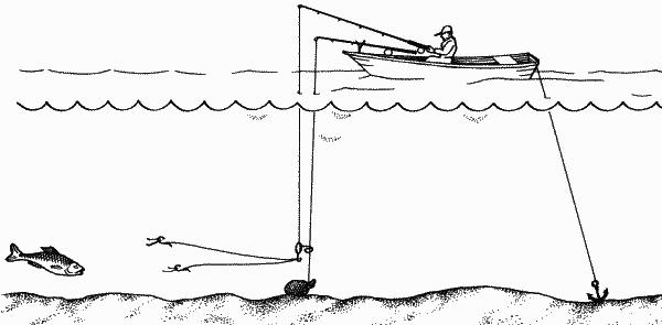 бортовая удочка для ловли леща на кольцо