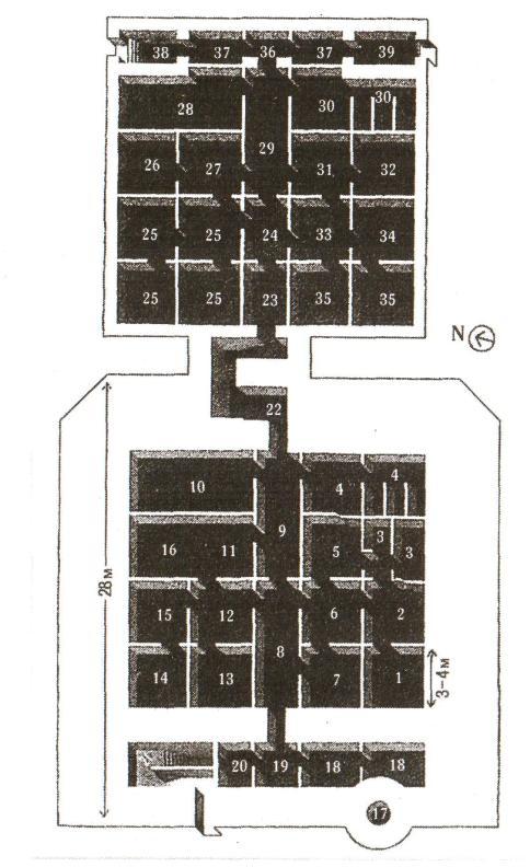 Схема бункера Гитлера