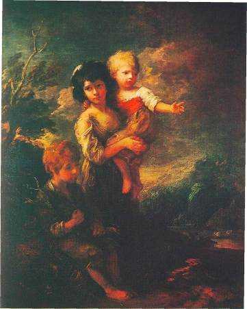 Дети, бегущие от грозы.
