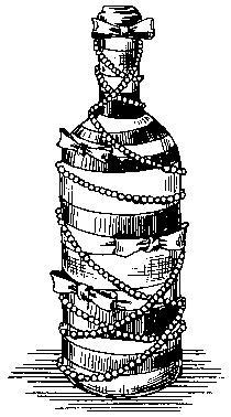 Способ украшения бутылки лентами и бисером своими руками.