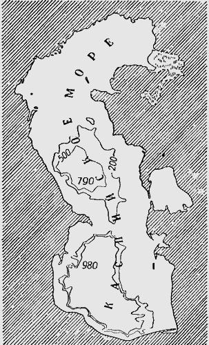 Карта рельефа дна Каспийского