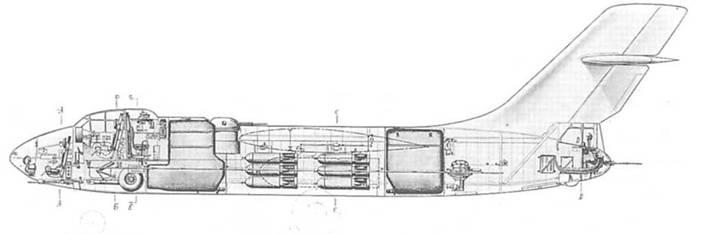 Компоновочная схема Су-10