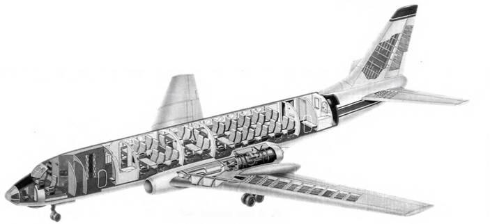 Компоновочная схема Ту-124