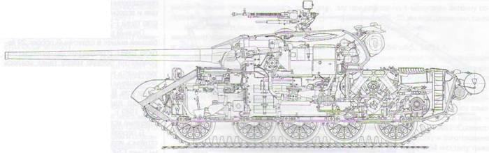 Компоновка танка Т-54 обр.
