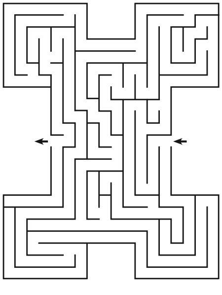 Рис. 44. Лабиринт – дорожка