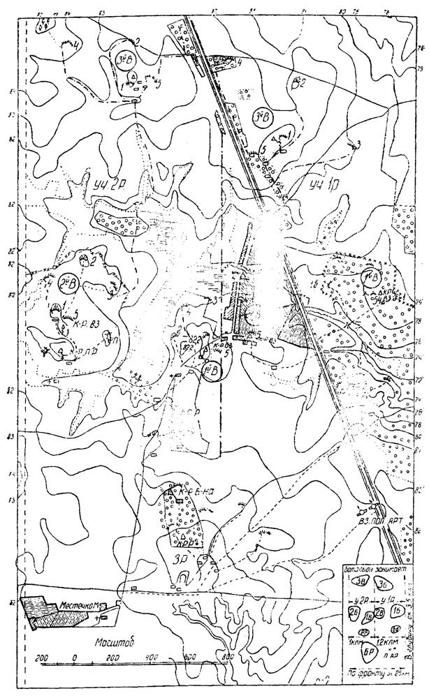 Схема укрепления батальона в