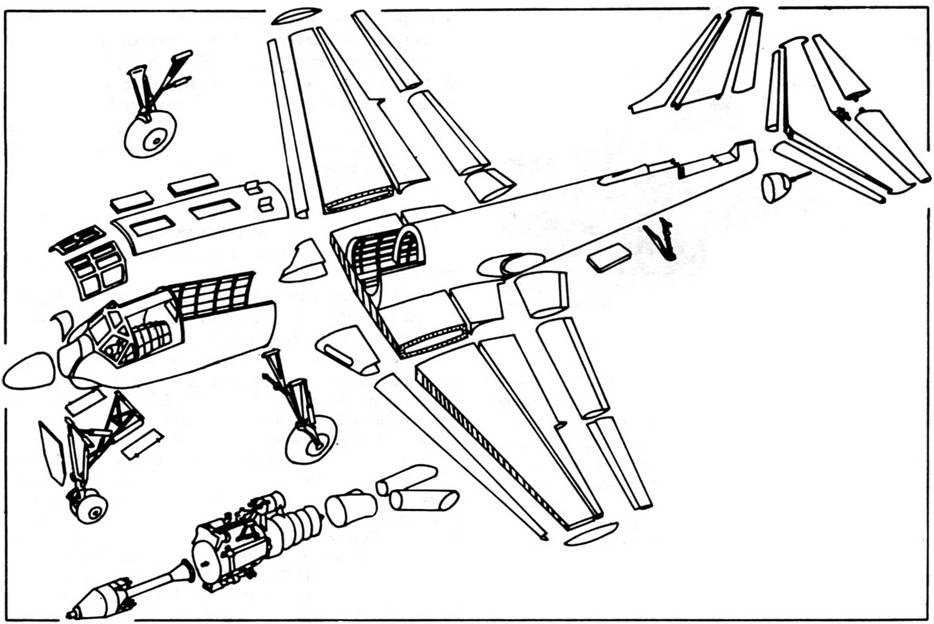 Схема членения Ту-91