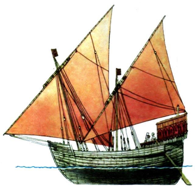 Рис 17 венецианское грузовое судно