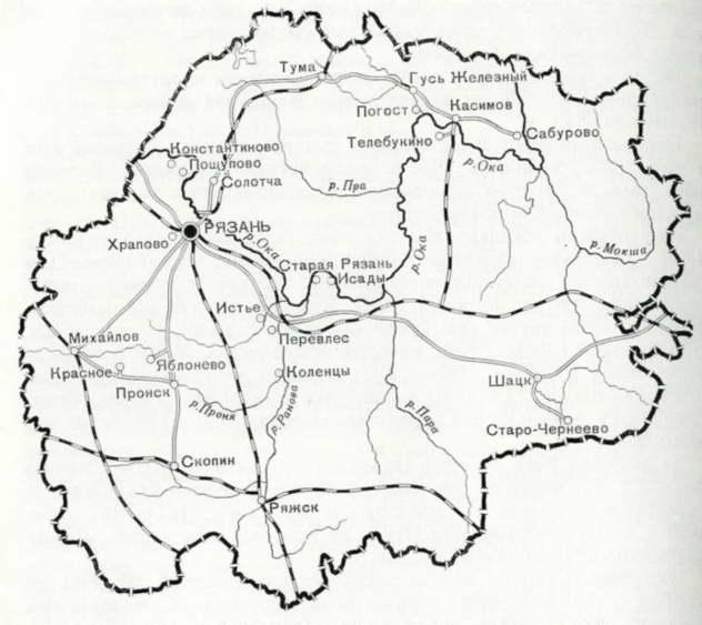 139. Карта-схема с указанием городов и населенных пунктов, где находятся памятники архитектуры.  Оглавление.
