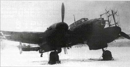 Bf 110G-4 nell'aeroporto dell'Air Force Research Institute di Chkalovskaya. Gennaio 1945