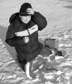 Зимняя ловля судака на жерлицы.