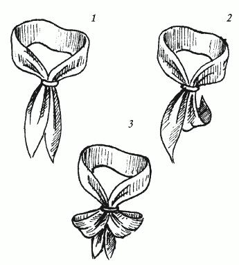 Этим узлом вы можете завязать и платок, и короткий шелковый или...