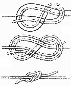 Убедитесь, что верёвки в узле.