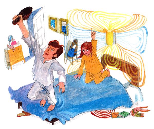 заглянул маме под халат и он встал